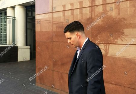 """Mark Salling Actor Mark Salling, who starred on the musical dramedy """"Glee,"""" leaves federal court in Los Angeles after pleading not guilty to federal pornography charges, and had his internet usage and travel severely restricted. U.S. Magistrate Judge Rozella A. Oliver ruled Salling can be released after he posts $150,000 bail, including $100,000 of his own money to guarantee future court appearances"""