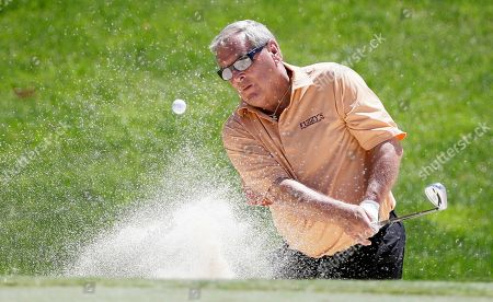 Fuzzy Zoeller Fuzzy Zoeller hits out of a bunker to the ninth green during the first round of the PGA Tour Champions Principal Charity Classic golf tournament, in Des Moines, Iowa