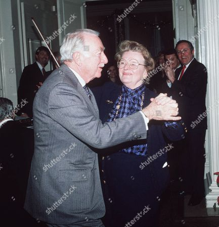 This is undated photo of Walter Cronkite and wife Betsy dancing