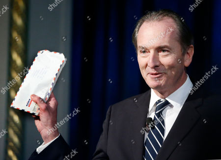 James Gorman Morgan Stanley Chairman and Chief Executive Officer James Gorman holds a letter he wrote to his family when he was a student resident of International House while introducing Federal Reserve chair Janet Yellen and former Fed Chairs Ben Bernanke and Paul Volcker, at International House in New York