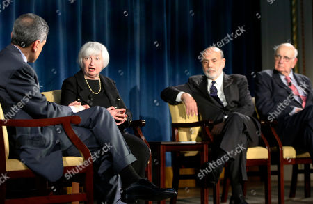 Editorial photo of 4 Fed Leaders, New York, USA