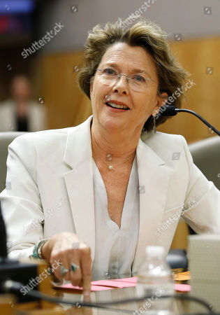 Annette Bening Actress Annette Bening urges lawmakers to approve legislation to create single-subject teaching credentials for theatre and dance, in Sacramento, Calif. The bill, SB916, by Sen. Ben Allen, D-Santa Monica, was approved by the Senate Education Committee on a 9-0 vote