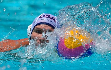 Tony Azevedo United States attacker Tony Azevedo moves the ball during a men's exhibition water polo match against Australia, in Los Angeles