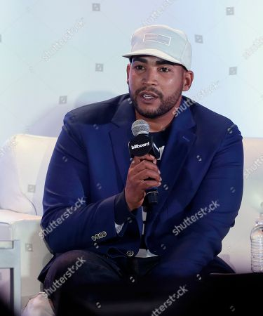 Stock Picture of Don Omar Puerto Rican singer, songwriter and actor Don Omar answers a question during the Billboard Latin Music Conference, in Miami Beach, Fla. The Billboard Latin Music Awards ceremony will be held next Thursday night. The Billboard Latin Music includes entrants from the United States, Latin America, and Spain, and performers from other countries are eligible as long as the artist performs Latin music