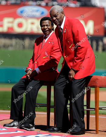 Bob Gibson, Lou Brock Former St. Louis Cardinals greats Lou Brock, left, and Bob Gibson are introduced before the start a baseball game between the St. Louis Cardinals and the Milwaukee Brewers, in St. Louis. Brock, the former base stealing record holder and Major League Hall of Famer, had his left leg amputated just below the knee in the offseason due to complications from diabetes