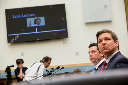 Jason Chaffetz, Ron DeSantis Rep. Jason Chaffetz, R-Utah, second from right, and Rep. Ron DeSantis, R-Fla., right, watch a film with former IRS official Lois Lerner, on Capitol Hill in Washington, as they testify before the House Judiciary Committee hearing on allegations of misconduct against IRS Commissioner John Koskinen