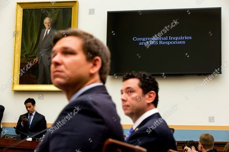 Jason Chaffetz, Ron DeSantis Rep. Jason Chaffetz, R-Utah, right, and Rep. Ron DeSantis, R-Fla., left, watch a film played as they testify at a House Judiciary Committee hearing, in Washington, on allegations of misconduct against IRS Commissioner John Koskinen