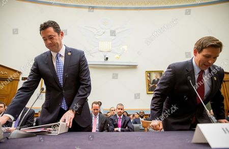 Jason Chaffetz, Ron DeSantis Rep. Jason Chaffetz, R-Utah, left, and Rep. Ron DeSantis, R-Fla., right, arrive to testify at a House Judiciary Committee hearing, in Washington, on allegations of misconduct against IRS Commissioner John Koskinen