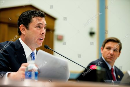Jason Chaffetz, Ron DeSantis Rep. Jason Chaffetz, R-Utah, left, accompanied by Rep. Ron DeSantis, R-Fla., testifies on Capitol Hill in Washington, before the House Judiciary Committee hearing on allegations of misconduct against IRS Commissioner John Koskinen