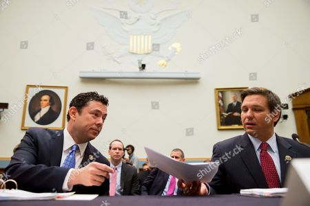 Jason Chaffetz, Ron DeSantis House Judiciary Committee members Rep. Jason Chaffetz, R-Utah, left, and Rep. Ron DeSantis, arrive on Capitol Hill in Washington, to testify before the House Judiciary Committee hearing on allegations of misconduct against IRS Commissioner John Koskinen