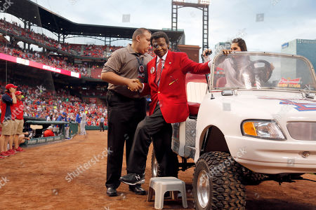 Lou Brock Former St. Louis Cardinals great Lou Brock in honored before the start of a baseball game between the St. Louis Cardinals and the Chicago Cubs, in St. Louis