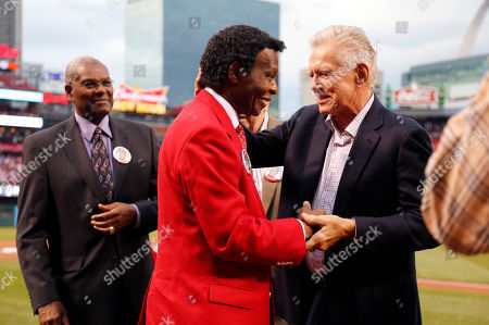 Lou Brock, Tim McCarver Former St. Louis Cardinals great Lou Brock, center, is greeted by former Cardinals Bob Gibson, left, and Tim McCarver during a ceremony honoring Brock before the start of a baseball game between the St. Louis Cardinals and the Chicago Cubs, in St. Louis
