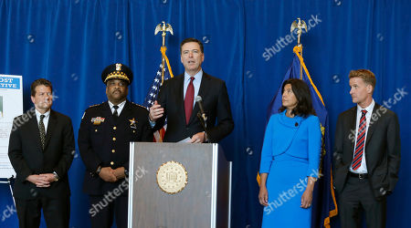 James B. Comey, Michael J. Anderson, Eddie Johnson, Anita Alvarez, Zachary T. Fardon FBI Director James B. Comey, center, announces the addition of Luis Macedo to the bureau's ten most wanted list during a news conference, in Chicago. Joining Comey are from left, FBI Special Agent in Charge, Chicago, Michael J. Anderson, Chicago Police Department Superintendent Eddie Johnson, Comey, Illinois State's Attorney Anita Alvarez, and U.S. Attorney Zachary T. Fardon