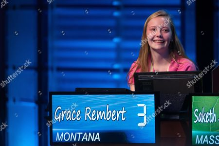 Grace Rembert Grace Rembert of Montana participates in the final round of the National Geographic Bee hosted by Mo Rocca, at the National Geographic Society in Washington