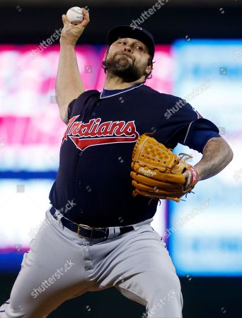Joba Chamberlain Cleveland Indians relief pitcher Joba Chamberlain throws against the Minnesota Twins in a baseball game, in Minneapolis