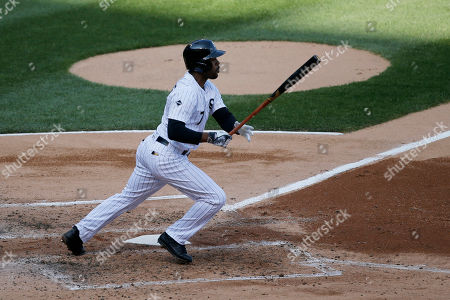 Jimmy Rollins Chicago White Sox's Jimmy Rollins watches his RBI single off Cleveland Indians starting pitcher Mike Clevinger, scoring Austin Jackson, during the third inning of a baseball game, in Chicago