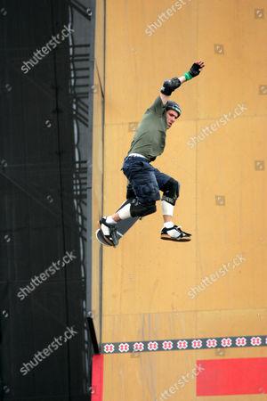 Andy MacDonald at the Skateboard Big Air Final