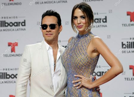 Stock Photo of Marc Anthony, Shannon de Lima Singer Marc Anthony and his wife Shannon de Lima arrive at the Latin Billboard Awards, in Coral Gables, Fla