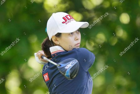Stock Photo of Sun Young Yoo Sun Young Yoo of South Korea watches her drive off the eighth tee during the second round of the LPGA Volvik Championship golf tournament at the Travis Pointe Country Club, in Ann Arbor, Mich