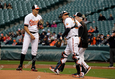 Editorial photo of Mariners Orioles Baseball, Baltimore, USA