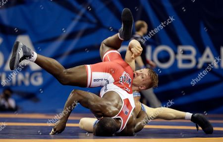 Editorial picture of Olympic Team Trials Wrestling, Iowa City, USA