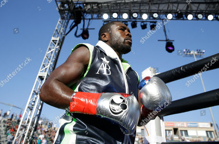 Andre Berto Andre Berto walks onto the ring for a welterweight boxing match against Victor Ortiz, in Carson, Calif