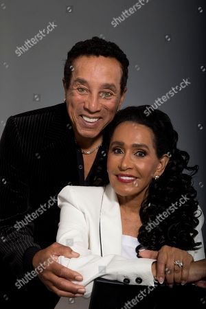 "Frances Gladney, Smokey Robinson Music legend Smokey Robinson and his wife, Frances Gladney, pose in Los Angeles to promote their new skincare lines, ""My Girl"" for women and ""Get Ready"" for men"