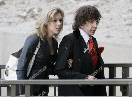 "Stock Image of Phil Spector, Rachelle Spector Music producer Phil Spector and his wife Rachelle Spector, arrive at the Los Angeles County Superior Court for a discovery hearing in downtown Los Angeles. An attorney for Spector's wife Rachelle wrote in a statement issued, that the producer's divorce filing is ""heartbreakingly bizarre"" and that she has been a devoted wife who has given him the best possible care while he is imprisoned for the shooting death of actress Lana Clarkson"