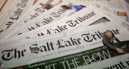 Editorial photo of Salt Lake Tribune Huntsman Purchase, Salt Lake City, USA