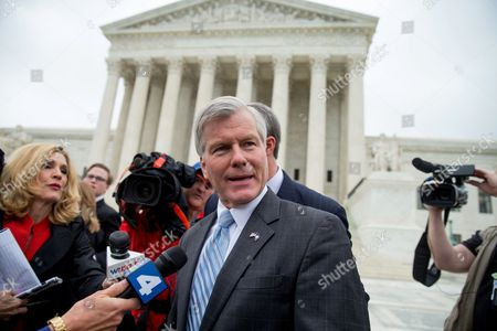 Bob McDonnell Former Virginia Gov. Bob McDonnell speaks outside the Supreme Court in Washington, after the Supreme Court heard oral arguments on the corruption case against McDonnell. The Supreme Court seems likely to overturn the conviction of McDonnell on political corruption charges and place new limits on the reach of federal bribery laws