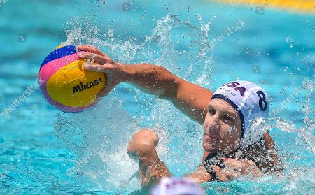 Tony Azevedo United States attacker Tony Azevedo passes the ball during a men's exhibition water polo match against Australia, in Los Angeles