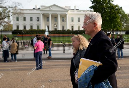 Mark Harmon Actor Mark Harmon, star of the long running television series NCIS: Naval Criminal Investigative Service, walks past the White House in Washington