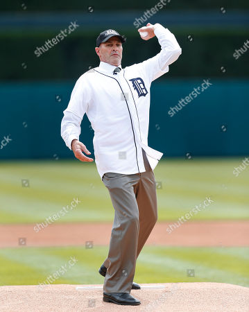 Kirk Gibson Kirk Gibson throws a ceremonial pitch before an opening day baseball game between the New York Yankees and Detroit Tigers, in Detroit