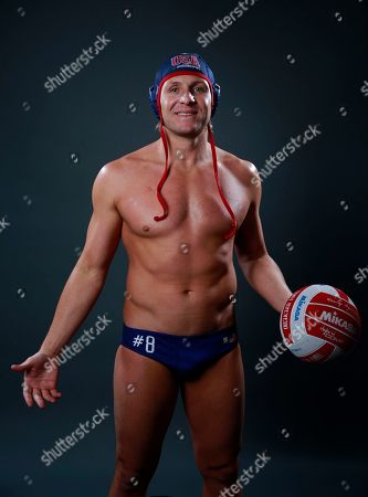 Tony Azevedo Olympic Water polo player Tony Azevedo poses for photos at the 2016 Team USA Media Summit, in Beverly Hills, Calif