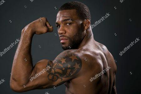 Jordan Burroughs US Olympic gold medalist wrestler Jordan Burroughs poses for photos at the 2016 Team USA Media Summit, in Beverly Hills, Calif