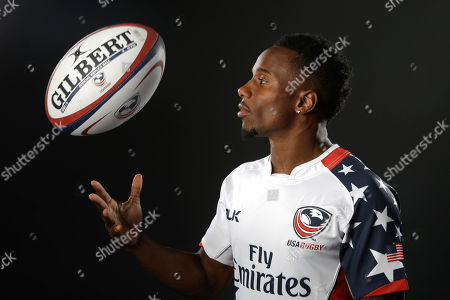 Carlin Isles Rugby player Carlin Isles poses for photos at the 2016 Team USA Media Summit, in Beverly Hills, Calif