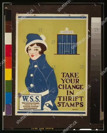 WWI Era  POSTER Take Your Change in Thrift Stamps