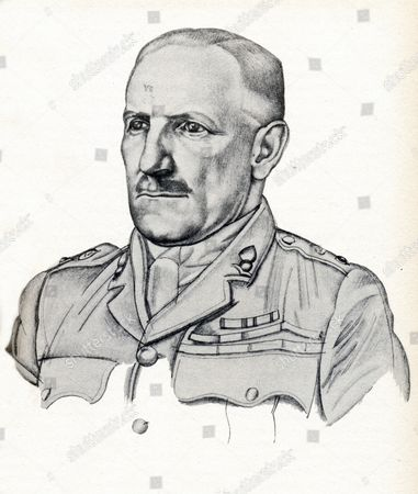 Colonel Stewart Francis NEWCOMBE 187801956, British army officer. Illustration inspired by William Roberts (1922) in: Seven Pillars of Wisdom, by Thomas Edward Lawrence, Angleterre, 1937.