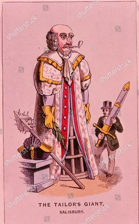 ||N|Colour|Portrait|Cartoons|P011|The tailor's giant, Salisbury, possibly a reference to investment of Robert Gascoyne-Cecil, 3rd Marquess Salisbury, 1830-1903, British Prime Minister