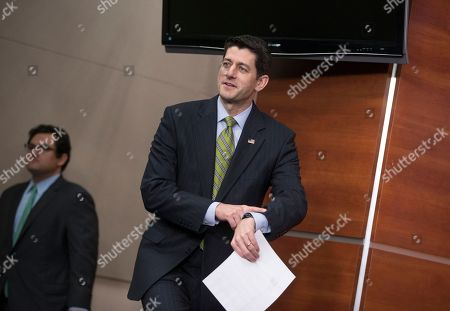 Paul Ryan Speaker of the House Paul Ryan, R-Wis., arrives to take questions from reporters at a weekly news conference on Capitol Hill in Washington, . The Wisconsin Republican, thrust into the speakership after predecessor John Boehner was squeezed out, said Thursday that he is not interested in being the savior of a GOP establishment appalled by Trump