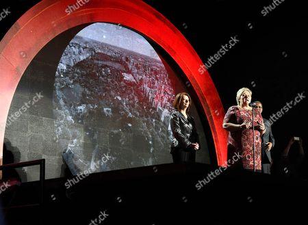 Erna Solberg, Julia Gillard, Jakaya Kikwete Erna Solberg, Prime Minister of Norway addresses the audience with Julia Gillard, former Prime Minister of Australia, left, and Jakaya Kikwete, former President of Tanzania at the Global Citizen Festival in New York