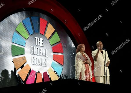 Amina J. Mohammed, Jeff Radebe Minister of Environment of Nigeria Amina J. Mohammed, left, and Minister Jeff Radebe speak to the crowd at the Global Citizen Festival in Central Park, New York