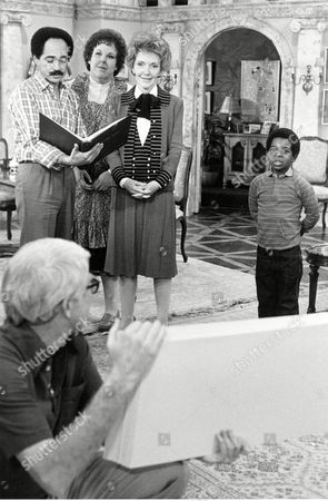 """Stock Photo of Nancy Reagan, Gary Coleman, Mary Jo Catlett First lady Nancy Reagan goes over cue cards on the Los Angeles set of the television series """"Diff'rent Strokes"""" with the show's stars Mary Jo Catlett, second left, and Gary Coleman, right. Reagan made the special appearance to promote her """"Just Say No"""" anti-drug message. Others are not identified. Reagan, who died, is perhaps best known for her """"Just Say No"""" to drugs and alcohol campaign. Three decades after the campaign's heyday, prevention experts credit it with spawning a new generation of research into the best ways of reducing drug abuse. But they also say that many of the fear-based tactics it embraced didn't work"""