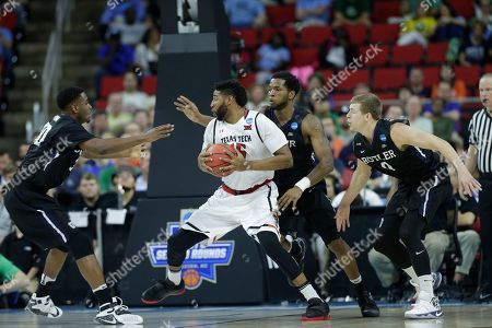 Texas Tech forward Aaron Ross (15) looks for the basket against Butler during the second half of a first-round men's college basketball game in the NCAA Tournament, in Raleigh, N.C