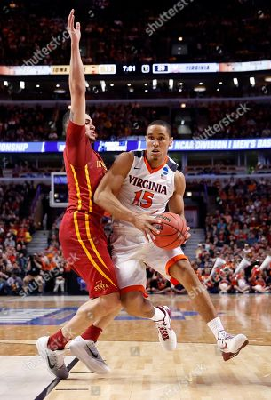Malcolm Brogdon, Abdel Nader Virginia's Malcolm Brogdon (15) drives against Iowa State's Abdel Nader (2) during the first half of a college basketball game in the regional semifinals of the NCAA Tournament, in Chicago