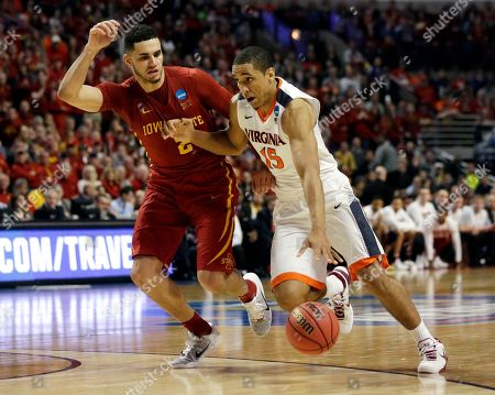 Malcolm Brogdon, Abdel Nader Virginia's Malcolm Brogdon (15) drives against Iowa State's Abdel Nader (2) during the second half of a college basketball game in the regional semifinals of the NCAA Tournament, in Chicago