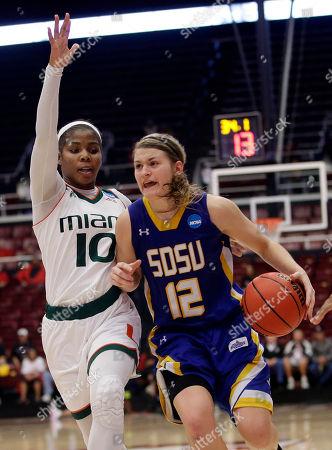 Editorial picture of NCAA South Dakota St Miami Basketball, Stanford, USA