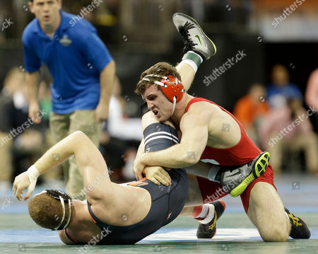 Gabriel Dean, Nolan Boyd Cornell's Gabriel Dean, right, gets control of Oklahoma State's Nolan Boyd in a 184-pound match during the NCAA Division 1 wrestling championship in New York