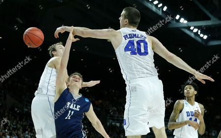 Makai Mason, Marshall Plumlee Duke's Marshall Plumlee (40) blocks a shot by Yale's Makai Mason (11) during the first half in the second round of the NCAA men's college basketball tournament in Providence, R.I