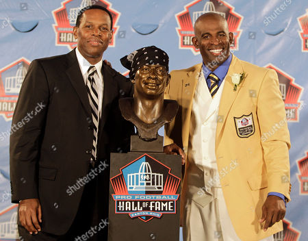 Deion Sanders, Eugene Parker Deion Sanders, right, poses with his presenter and agent Eugene Parker, and a bust of himself during the induction ceremony at the Pro Football Hall of Fame in Canton, Ohio. Renowned football agent Eugene Parker has died. He was 60. His family says in a statement he had cancer and died . Parker represented such Hall of Famers as Emmitt Smith, Sanders, Curtis Martin and Rod Woodson